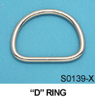 "1/4"" X 2"" D Ring"