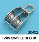"""1"""" SS Double Swivel Block"""